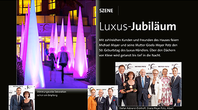 Meyer Potz 50 years of style - Textilwirtschaft 36/2017