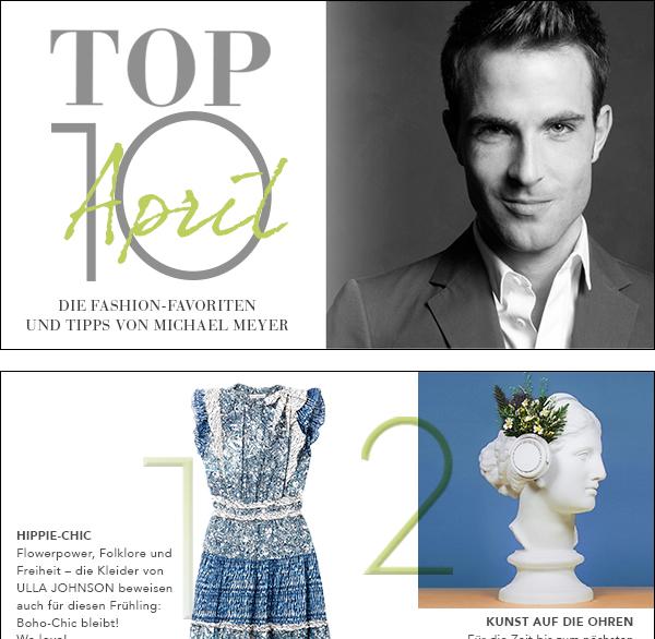 Top Ten April by Michael Meyer